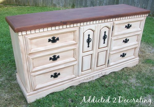 distressed sideboard (via addicted2decorating)