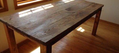 distressed kitchen table via