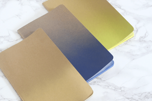 ombre notebooks (via jadeandfern)