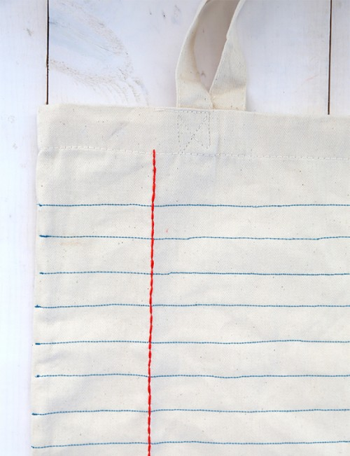 sewn canvas tote bag (via sayyes)