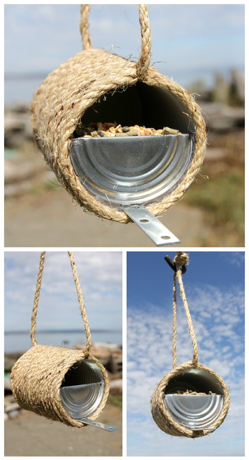 sisal rope bird feeder (via dabblesandbabbles)