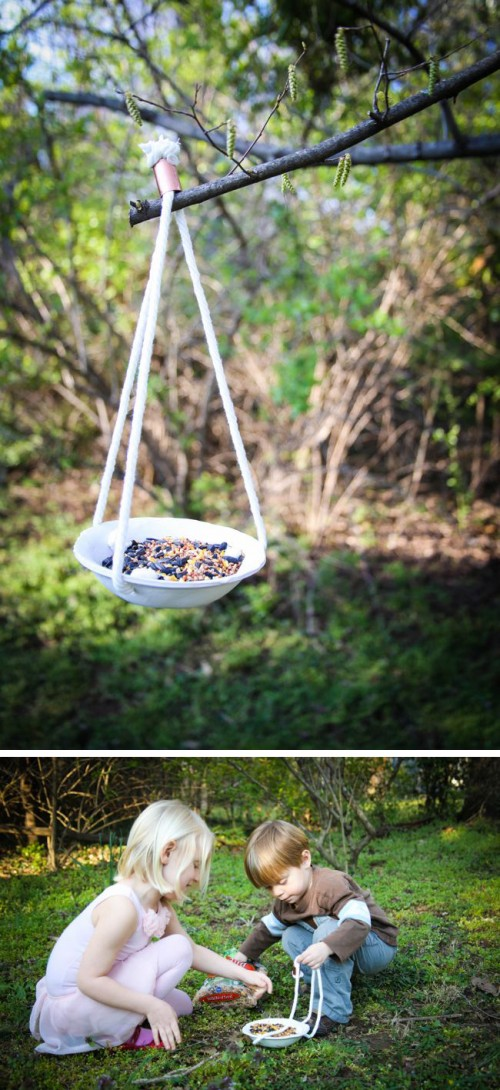 clay bird feeder (via henryhappened)