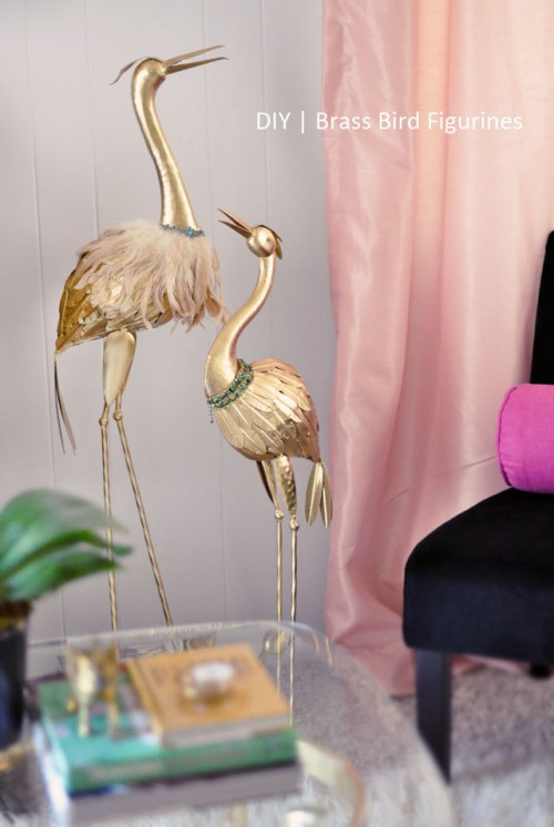 brass birds for home decor (via lovemaegan)