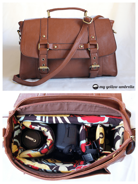 Diy Leather Camera Bag Via Myellowumbrella