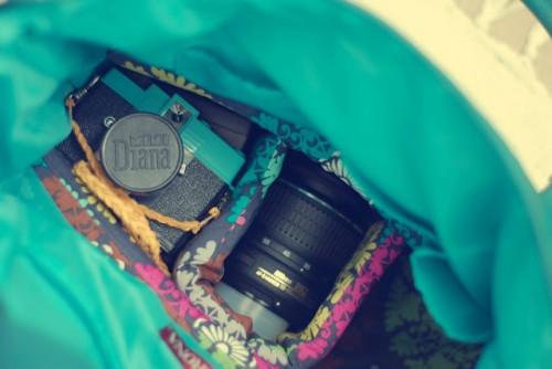 DIY Camera Purse (via pocketfulofpretty)
