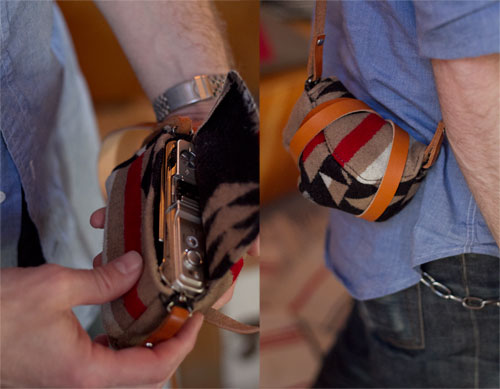 Small DIY Wool Point And Shoot Camera Wrap (via designsponge)