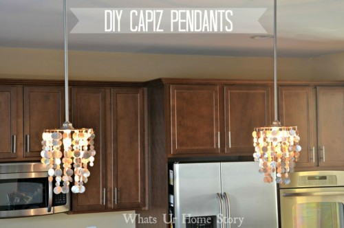 Cool Diy Capiz Pendant Lamp