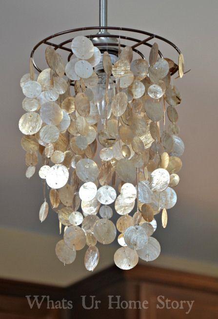 Cool diy capiz pendant lamp shelterness for Cool diy lamps