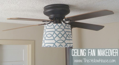ceiling fan makeover (via cafemom)