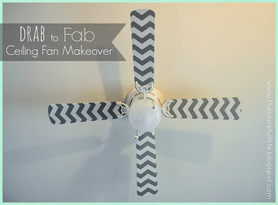 contact paper decorated ceiling fan (via thetastefulllife)