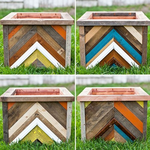 Cool Diy Chevron Pattern Planter