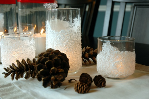 snow drift candle holder