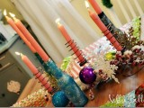glitter bottle candle holders