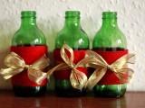 diy christmas yarn candle holder