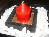 christmas stone candle holder