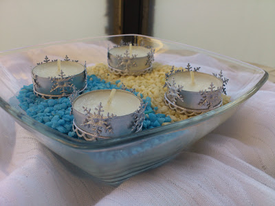snowflakes candle holder