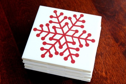 10 ideas to make cool christmas coasters shelterness for Homemade coaster ideas