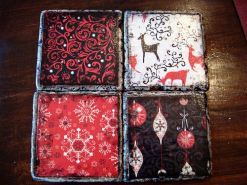 Tile Christmas Coasters