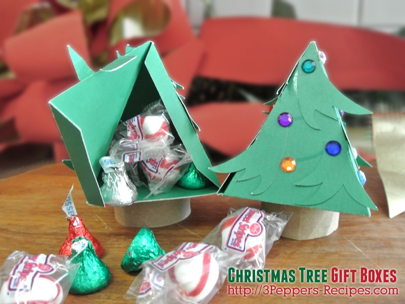 Christmas tree gift boxes