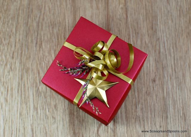 Christmas origami box