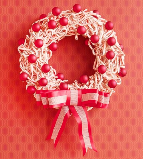 20 Cool DIY Christmas Wreaths For Foodies