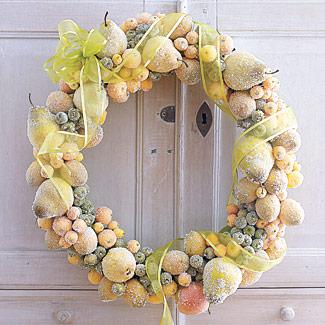 Homemade Sugar-Coated-Fruit Wreath