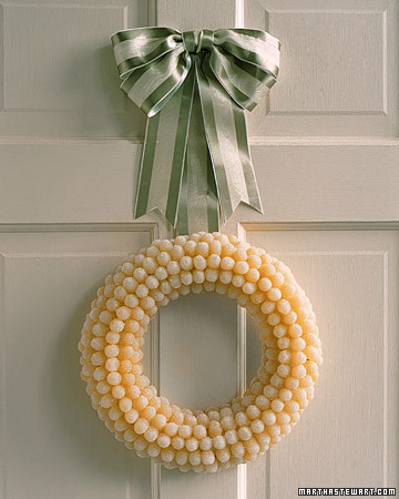 DIY Gumdrop Wreath (via marthastewart)