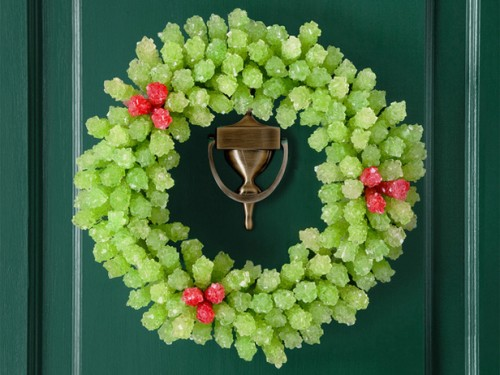 DIY Rock-Candy Wreath (via foodnetwork)