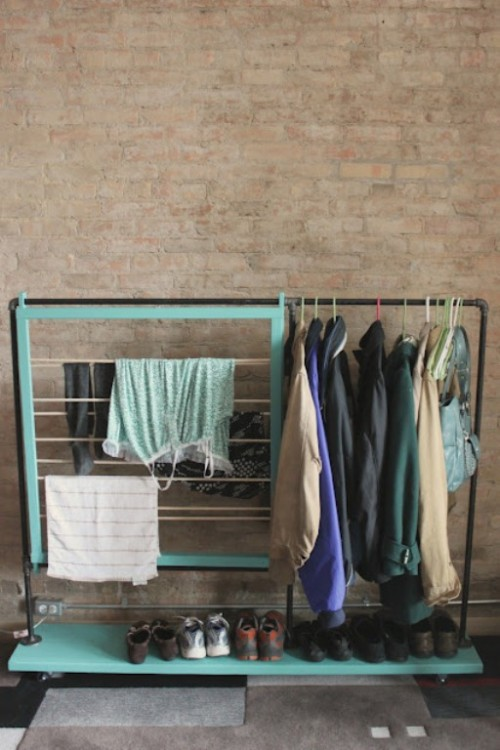 Cool DIY Coat Rack For Maximizing Closet Space