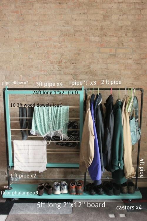 Cool Diy Coat Rack For Maximizing Closet Space