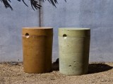 concrete 5 gallon garden stool