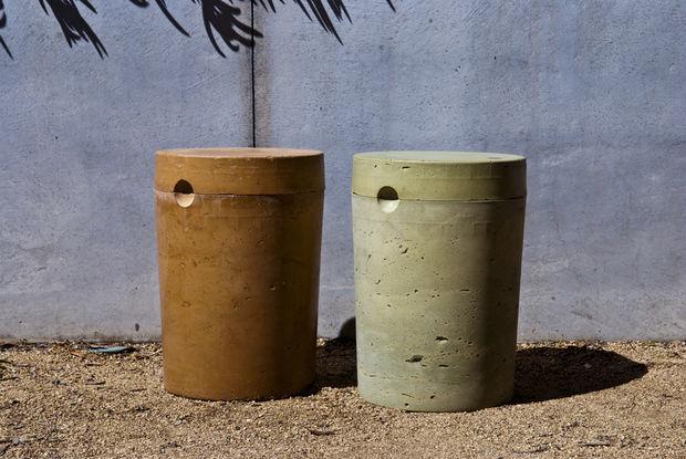 concrete 5 gallon garden stool