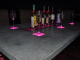 LED concrete patio table