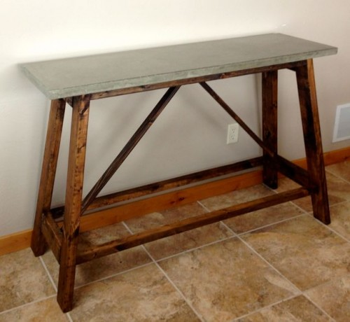 concrete table (via diypete)