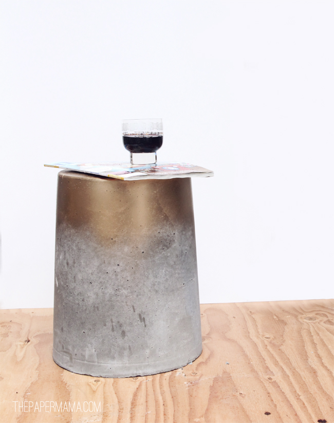 concrete stool or small table