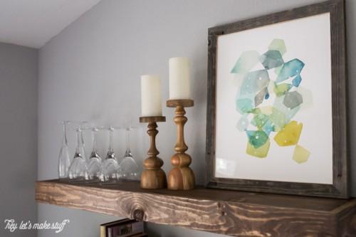 Cool DIY Dining Room Floating Shelves