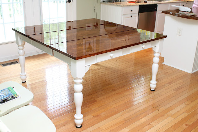 beautiful dining table makeover