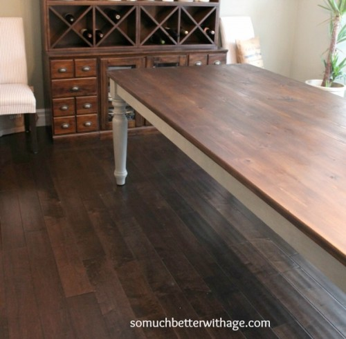 distressing a dining table (via somuchbetterwithage)