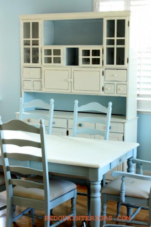 black to white table renovation (via redouxinteriors)