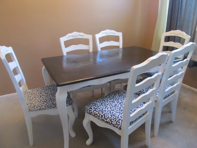 stylish dining table makeover