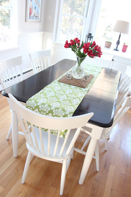Easy Kitchen Table Makeover Via Shineyourlightblog