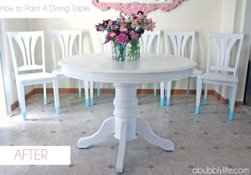 painting an antique dining table (via abubblylife)