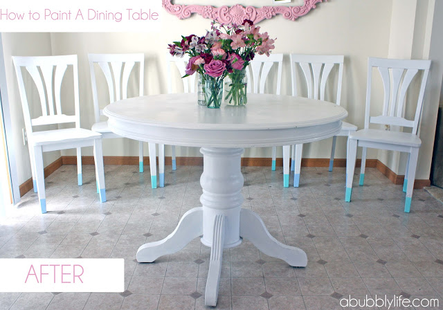 painting an antique dining table