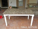 stenciled dining table