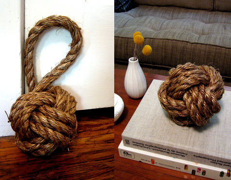 knot door stopper (via designsponge)