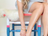 colorful entry stool