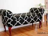 comfy upholstered bench