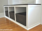 entryway bench with cubbies