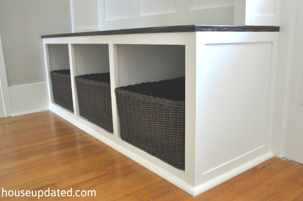 ... benches and footstools entryway bench with cubbies via houseupdated