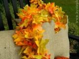 faux leaf fall garland